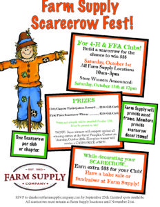 Scarecrow Contest Flyer 2016